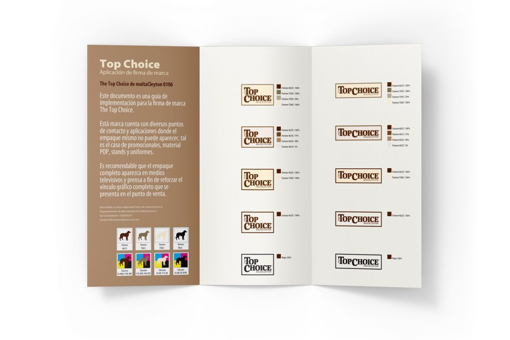 guia de marca top choice