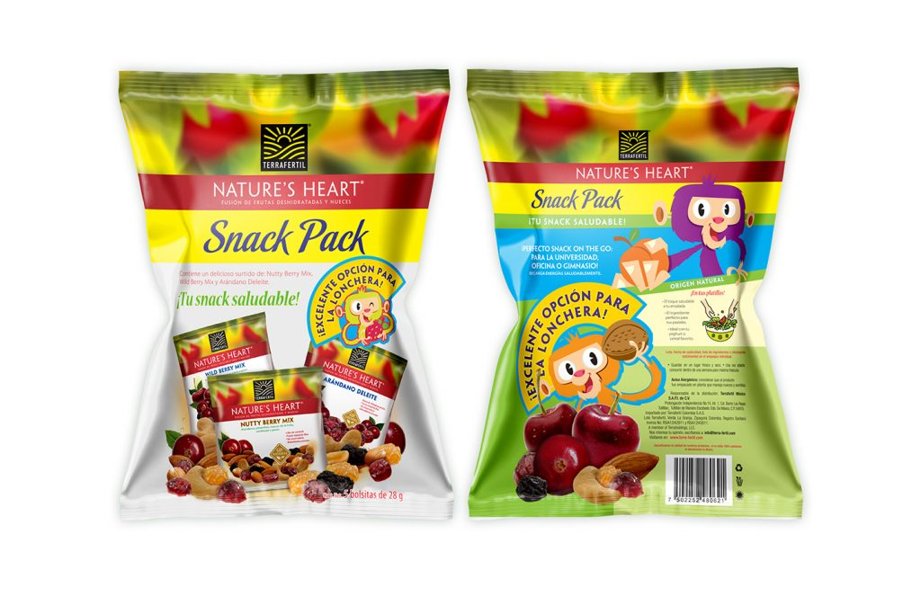 snack pack saludable nature's heart