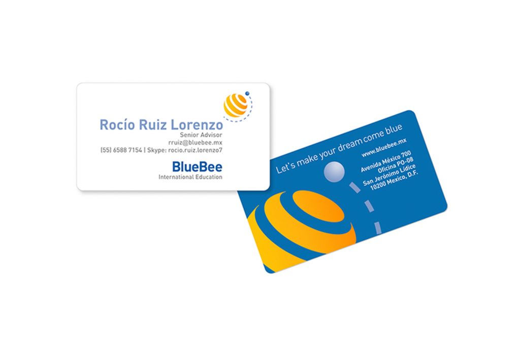 tarjetas Blue Bee