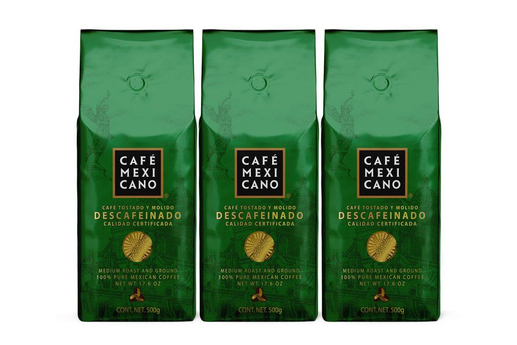 empaque cafe mexicano tipo descafeinado