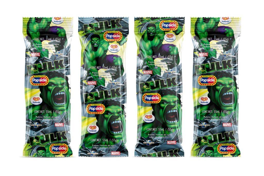 Paletas heladas Hulk