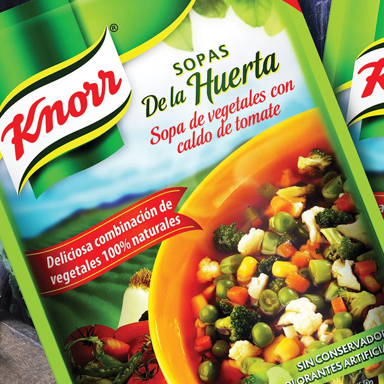 Sopas de la huerta Knorr