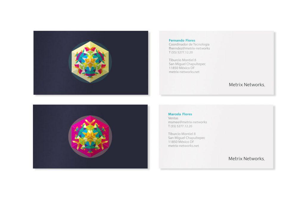 tarjetas de presentacion metrix