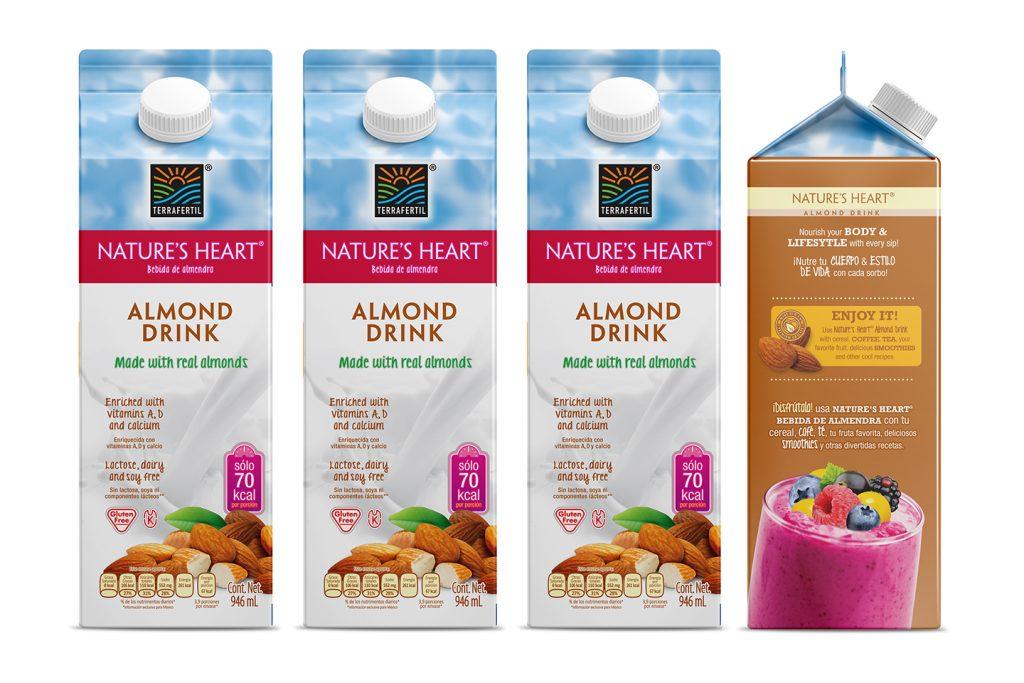 bebida de almendra nature's heart