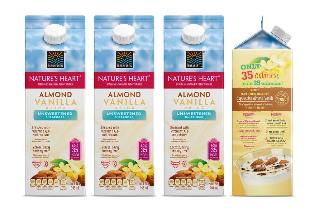 bebida de almendra sabor vainilla Nature's heart