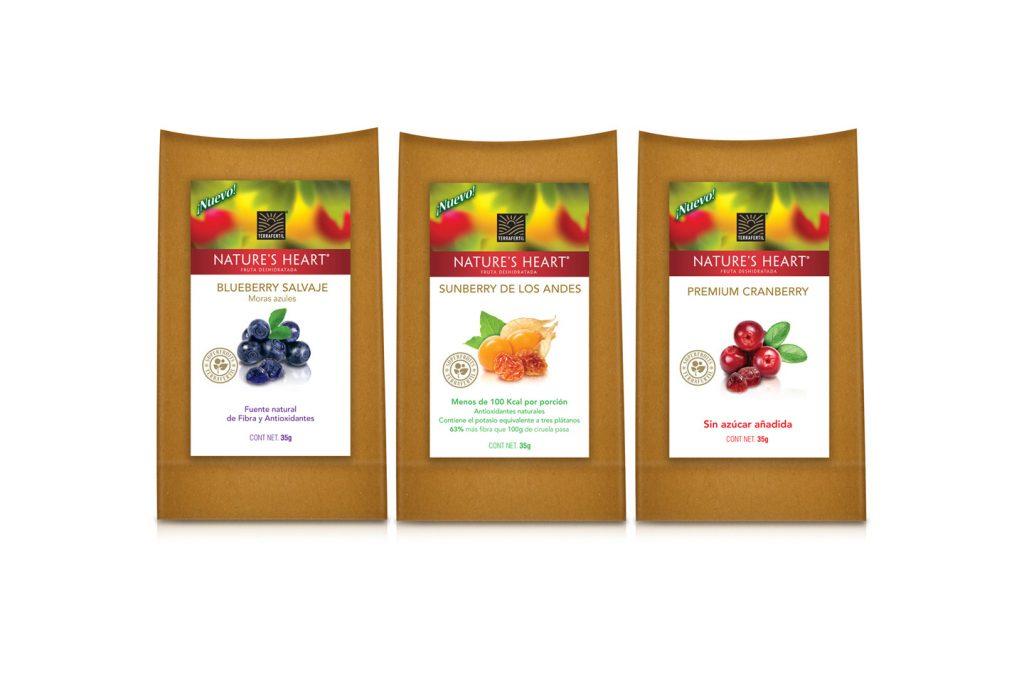 fruta deshidratada presentacion 35g nature's heart