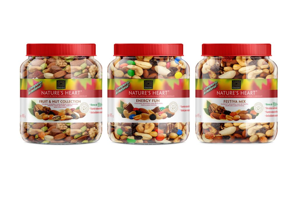 frutas deshidratadas, nueces y chocolates 495g nature's heart