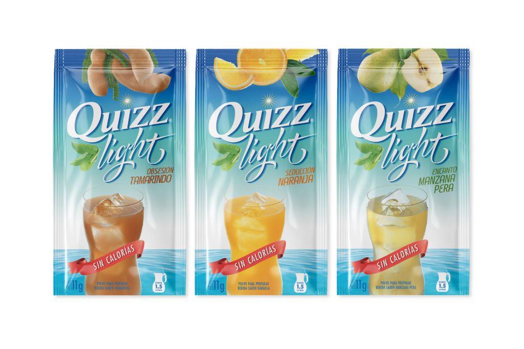 polvo para preparar bebida quizz light