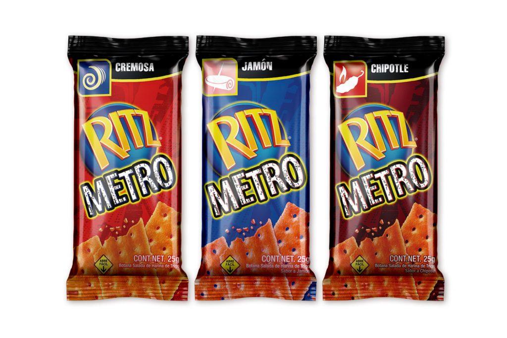 ritz metro sabor cremosa, jamon y chipotle