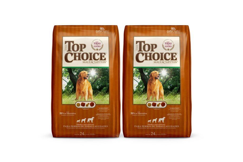 alimento para perro Top choice