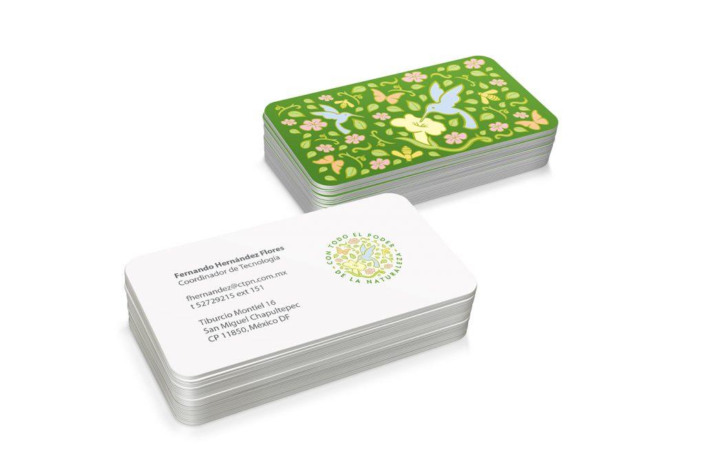 tarjetas de presentacion con todo el poder de la naturaleza