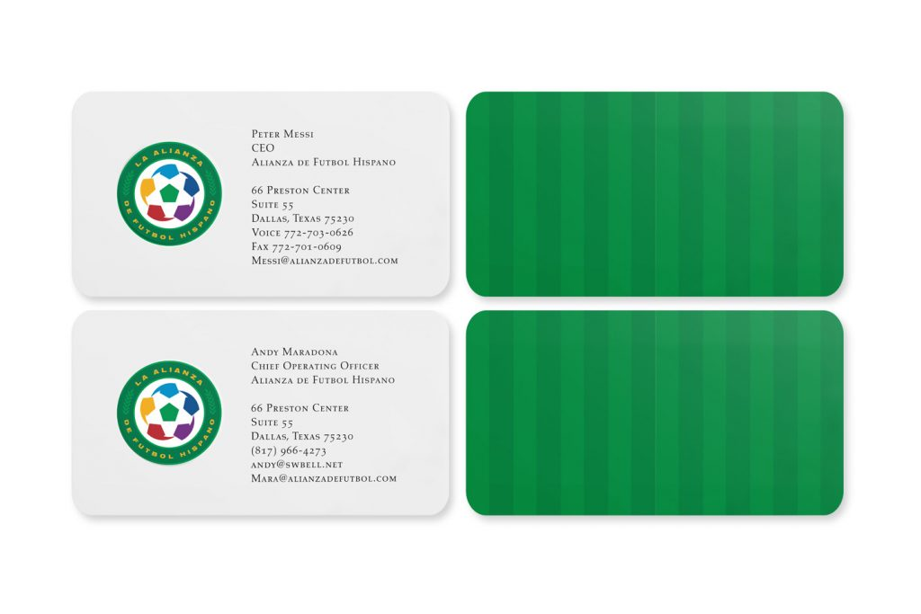 tarjetas de presentacion alianza