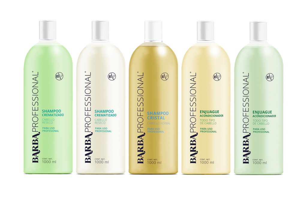 línea shampoo barba