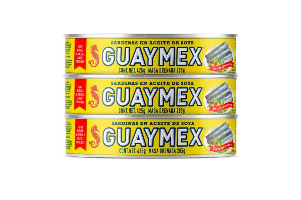 nueva presentacion sardinas guaymex en aceite de soya