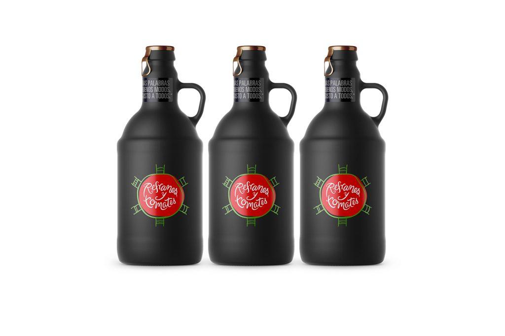 aplicación botellas refranes y tomates