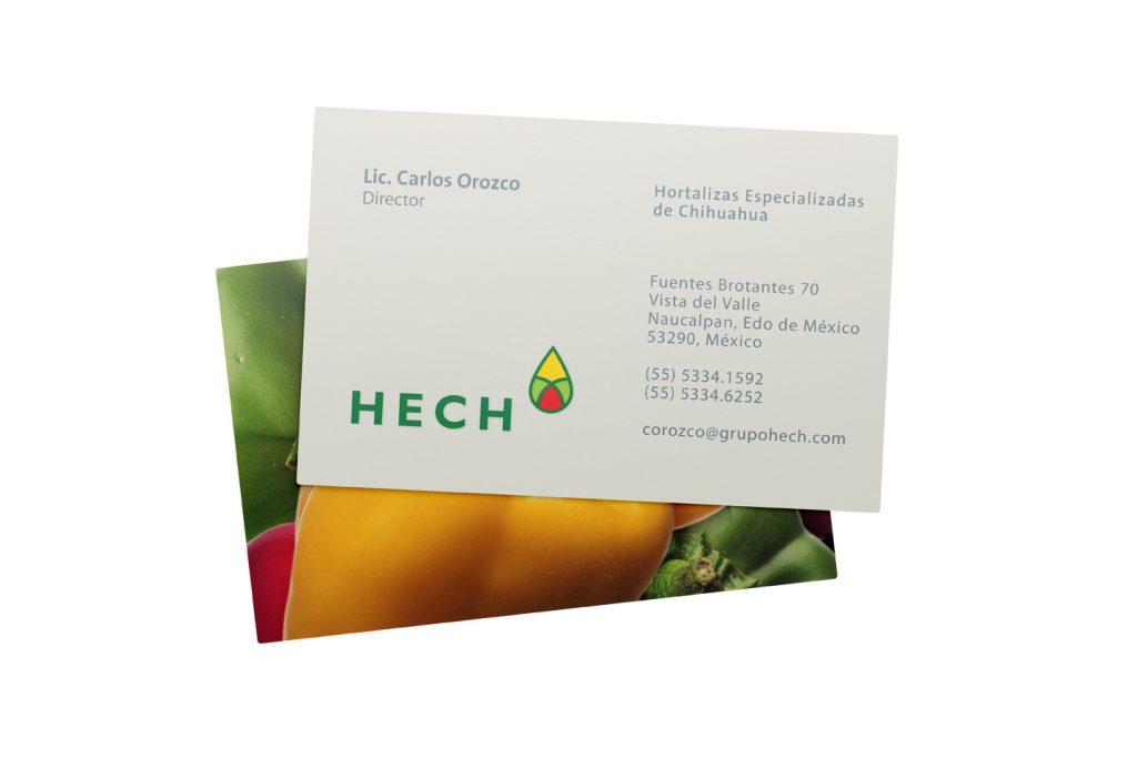 tarjetas de presentacion HECH