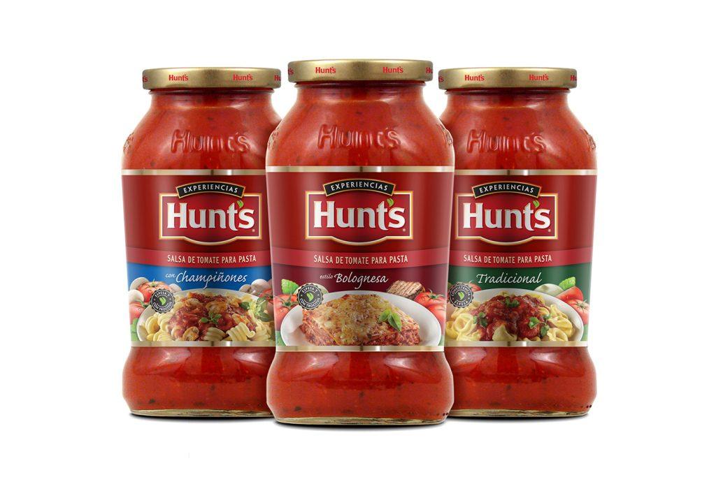 salsa de tomate para pastas en frasco Hunts
