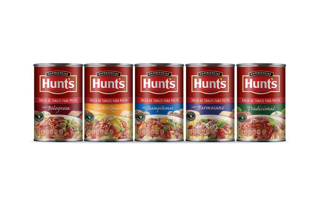 salsa de tomate para pastas en lata Hunts