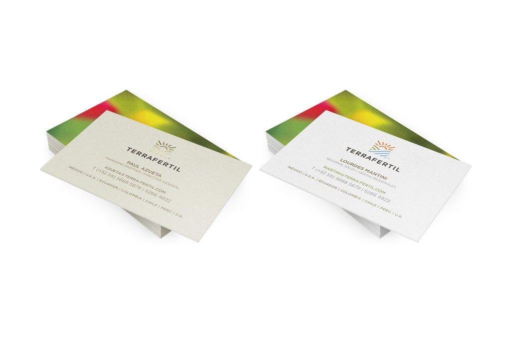 tarjetas de presentacion terrafertil