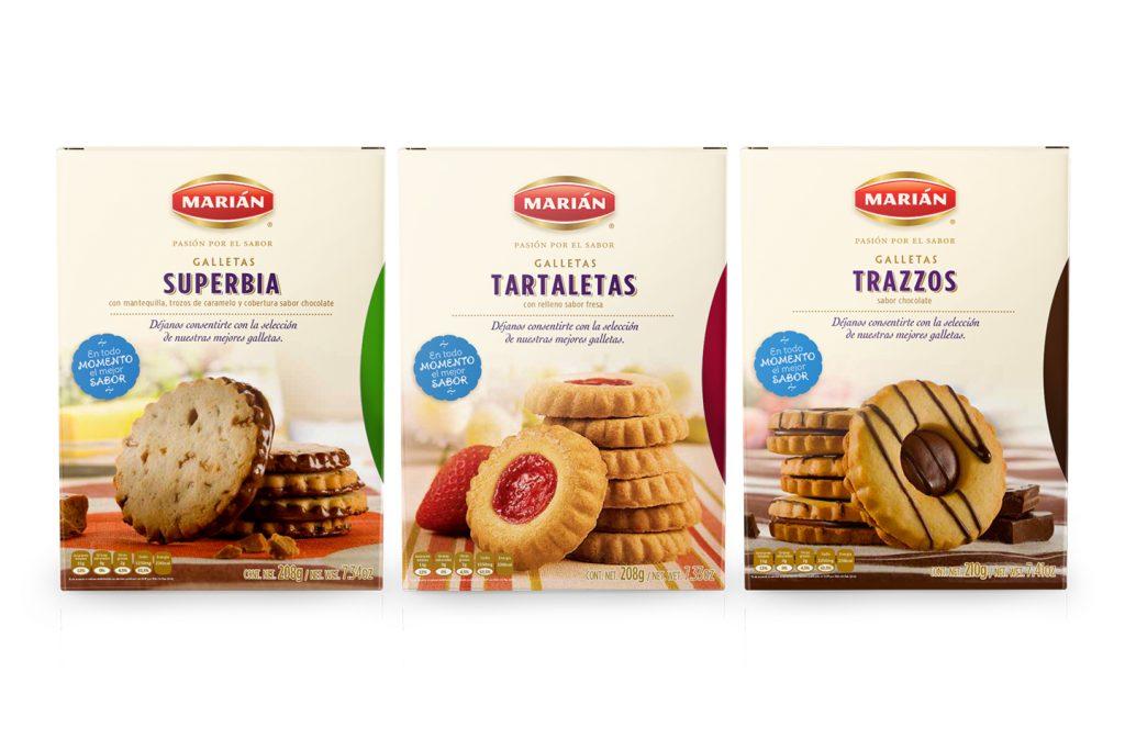 galletas superbia, tartaletas y trazzos de Marian