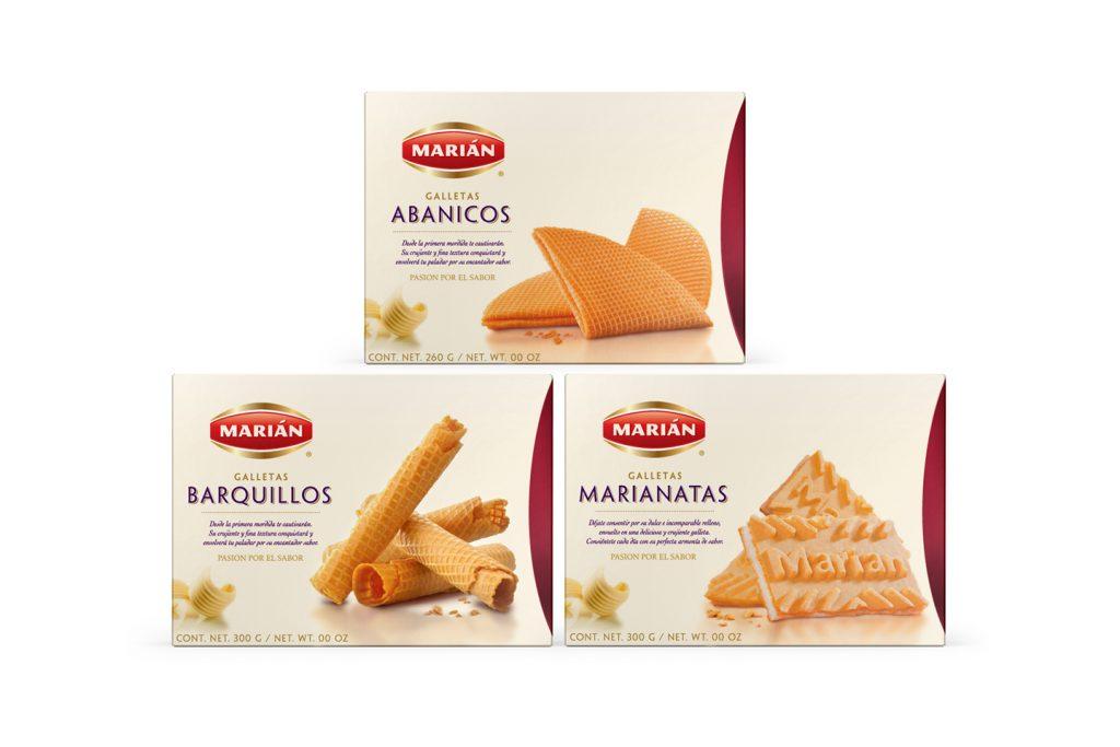 galletas abanicos, barquillos y marianatas de Marian