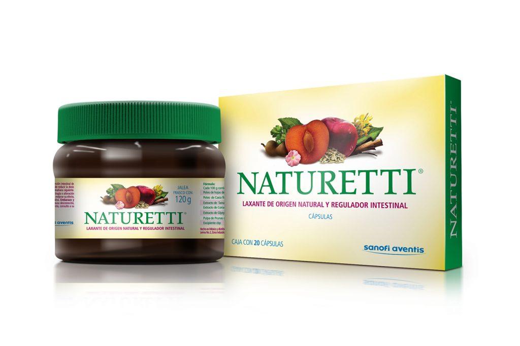 laxante Naturetti presentacion en frasco y capsulas