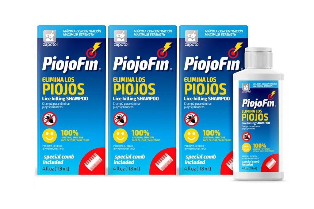 cajas y botella piojofin