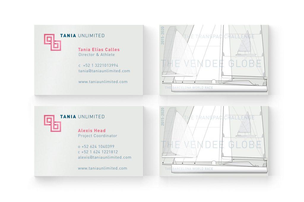 tarjetas de presentacion tania unlimited
