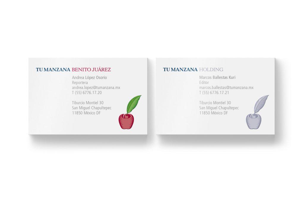 tarjetas de presentacion tu manzana
