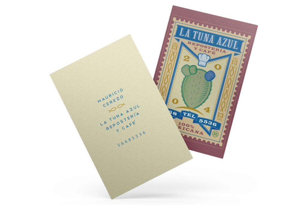 tarjetas de presentacion la tuna azul