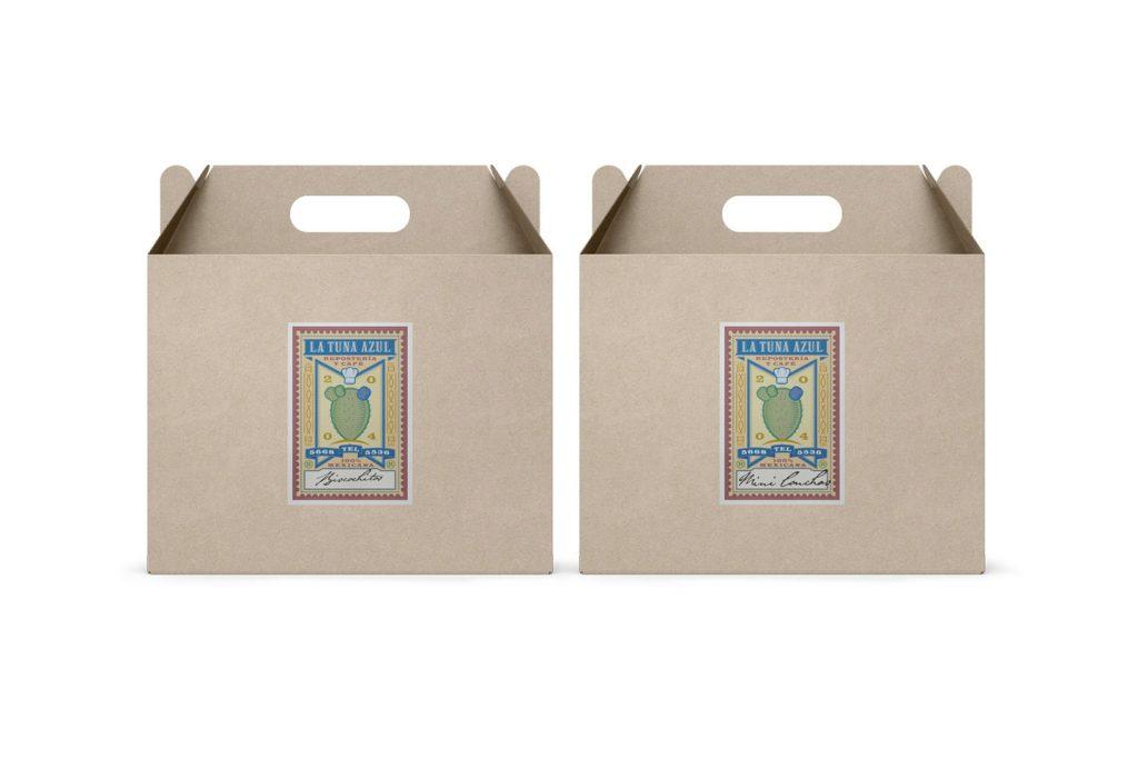 cajas la tuna azul