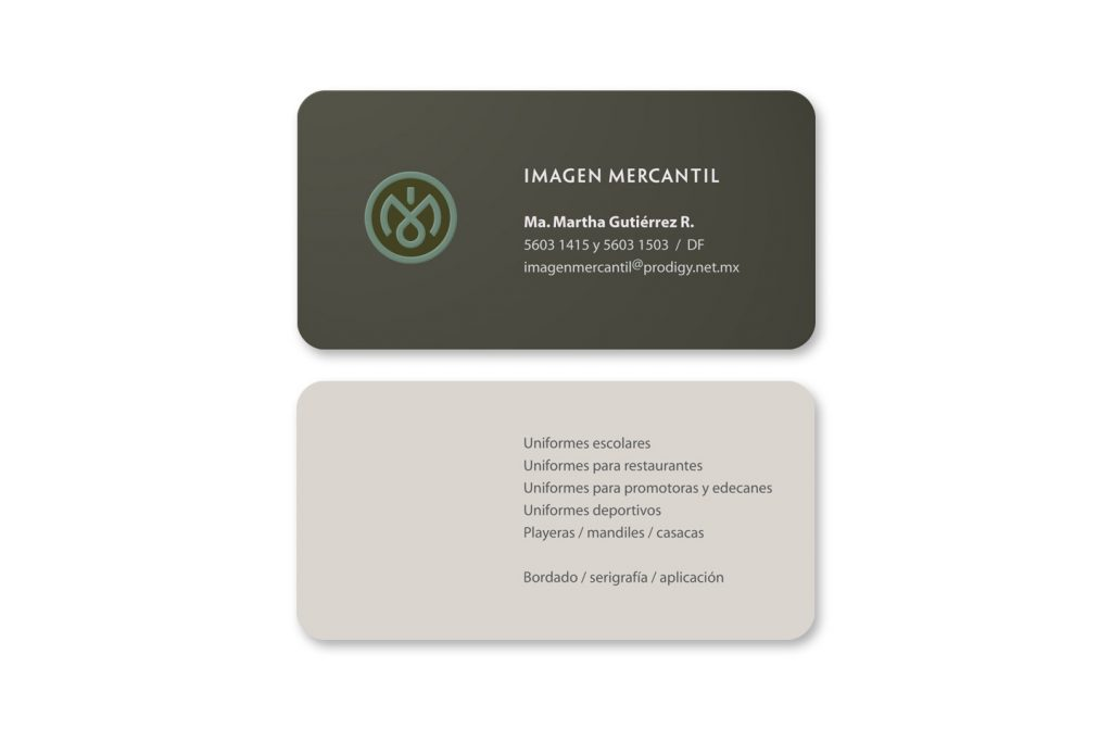 tarjetas de presentacion imagen mercantil