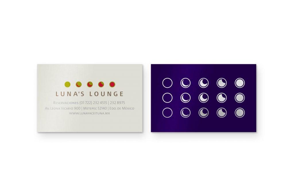 tarjetas luna y aceituna lounge