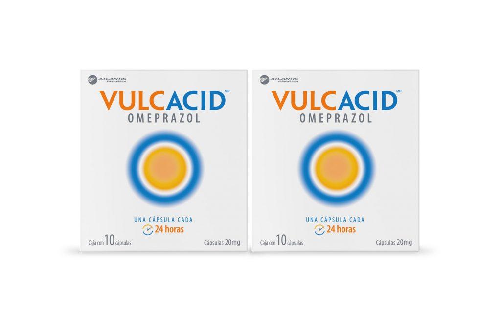 vulcacid caja con 10 cápsulas